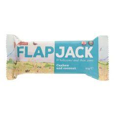 Wholebake Flapjack ovesný kešu-kokos 20× 80 g