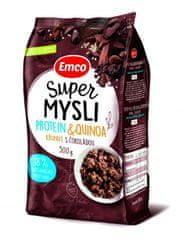 EMCO Super Mysli Protein & Quinoa chrumkavé s čokoládou 12 × 500 g