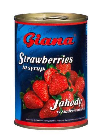 Giana Jahodový kompót v mierne sladkom náleve 12 x 425 ml