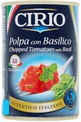 CIRIO Ošúpané krájané paradajky v paradajkovej šťave s bazalkou 12 × 400 g