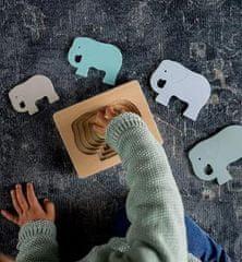 Kindsgut Drevené vkladacie puzzle Slon