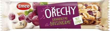 EMCO Tyčinka s Orechmi a kanadskými brusnicami 20 × 35 g