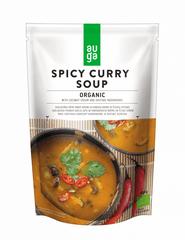 AUGA Organic BIO Pikantní curry polévka s kokosovým mlékem a houbami shiitake 10× 400g