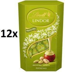 LINDT Mléčná čokoláda s pistáciovou krémovou náplní 8× 200g