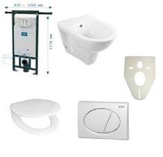 Optiline SET WC závěsný - WC závěsné Optiline Europa, sedátko Termoplast, modul instalační