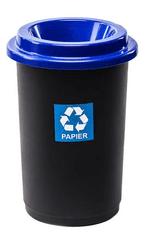 Plafor Odpadkový koš na tříděný odpad kulatý 50 litrů - modrý