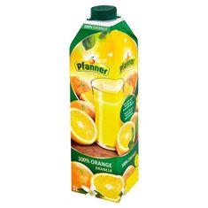 PFANNER 100% pomarančová šťava 8× 1 l
