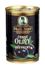 Franz Josef Kaiser Kaiser Exclusive Čierne olivy v mierne slanom náleve bez kôstky 12 × 300 g