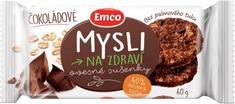 EMCO 24× Mysli na zdraví Ovesné sušenky čokoládové 60 g