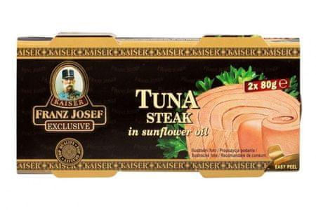 Franz Josef Kaiser Kaiser Exclusive Tuniak steak v slnečnicovom oleji 24 × 2x 80 g