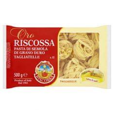 RISCOSSA Tagliatelle semolinové cestoviny bezvaječné 12 × 500 g