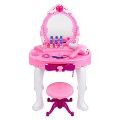 BAYO Detský kozmetický stolík Bayo + príslušenstvo Ružová
