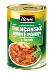 Hamé Trenčianske jemné párky s fazuľou hotové jedlo 10 x 410 g