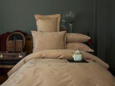 Issimo Damaškové obliečky BELUGA svetlo hnedá 200x220 cm.