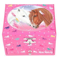 Miss Melody Miss Melody ékszerdoboz, Miss Melody és Pelly, rózsaszínű