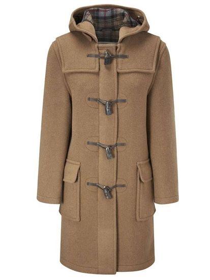 Montgomery Klasický dámský béžový duffle kabát - 38
