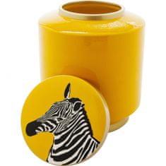 KARE Dekoratívna nádoba Zebra - 25cm, žltá