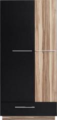Meblar Šatní skříň Monsun MN1 - černá / ořech baltimore