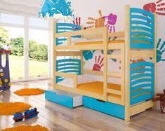 ADRK Dětská patrová postel OSUNA - Osuna růžová