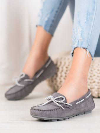 Vinceza Női mokaszin 63068 + Nőin zokni Gatta Calzino Strech, szürke és ezüst árnyalat, 37