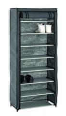 Mørtens Furniture Textilní botník Preston, 142 cm, šedá / černá