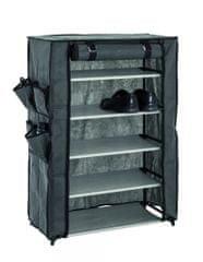 Mørtens Furniture Textilní botník Pauly, 90 cm, šedá / černá