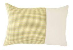 Ch. Fischbacher Dekorativní polštář PIED DE POULE žlutý