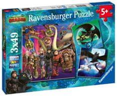 Ravensburger Ako vycvičiť draka 3 3x49 dielikov
