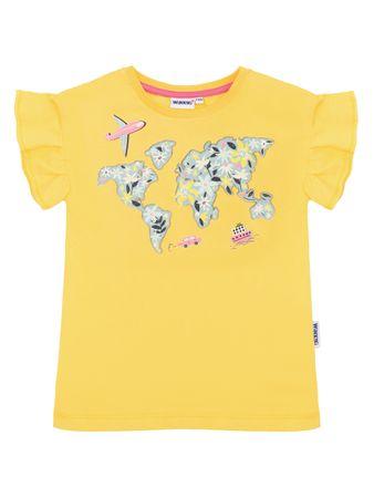 WINKIKI koszulka dziewczęca 98 żółta