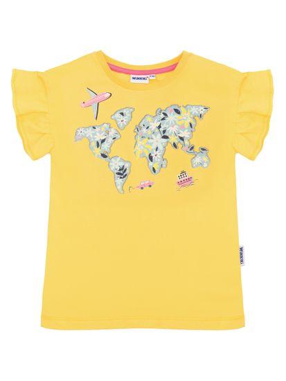 WINKIKI dievčenské tričko 98 žlté