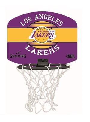 Spalding Mini Lakers sobni koš s lopticom