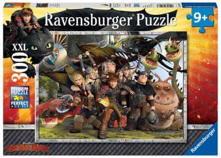 Ravensburger puzzle Jak wytresować smoka: Trzymaj swoich przyjaciół blisko, 300 elementów