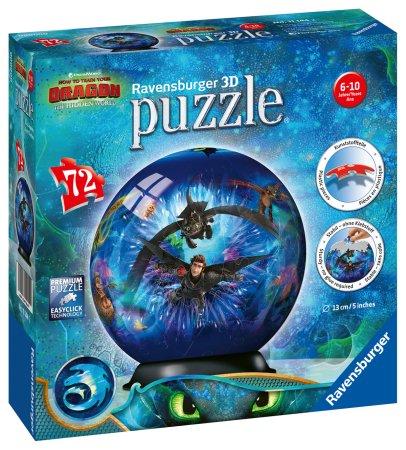 Ravensburger Puzzleball Kako izuriti svojega zmaja 3, 72 kosov