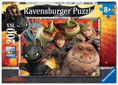 Ravensburger puzzle Jak wytresować smoka: Czkawka, Astrid i smoki, 200 elementów, XXL