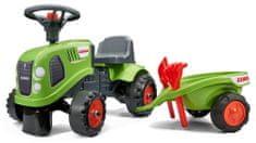 Falk Traktor Claas z kierownicą i przyczepą