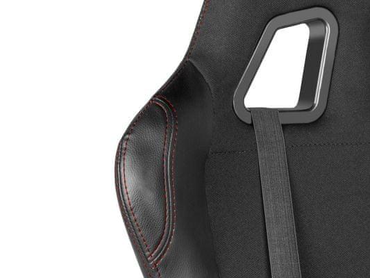 Herní židle Nitro 550, pohodlná, syntetická kůže, opěrky na ruce