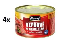 Hamé Vepřové ve vlastní šťávě 4× 400 g