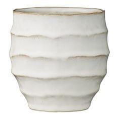 Lene Bjerre Keramična prevleka za cvetlični lonec NAVINE bela 11,5 x 11,5 cm