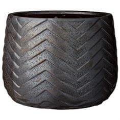 Lene Bjerre Ceramiczna osłona doniczki MADGE 30 x 23 cm szara