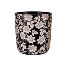 Butlers Květináč 14 cm - černá/bílá