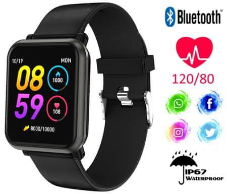 Trevi T-FIT 210 športna ura/zapestnica, Bluetooth, srčni utrip, športne aktivnosti, črna