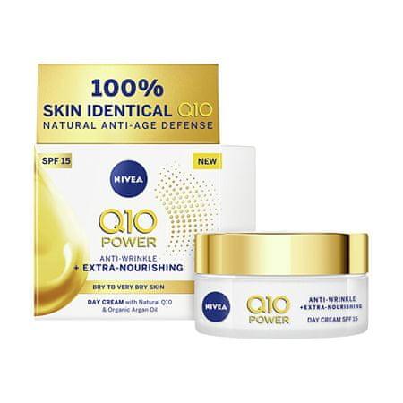 Nivea Tápláló ránctalanító krémQ10 OF 15 (Anti-Wrinkle Extra Nourishing Cream) 50 ml