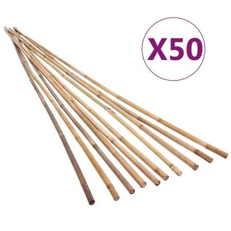 shumee 50 db kerti bambuszkaró 150 cm