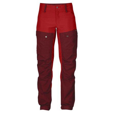 Fjällräven Keb Trousers W Regular, Wół Czerwony | 326 | 46