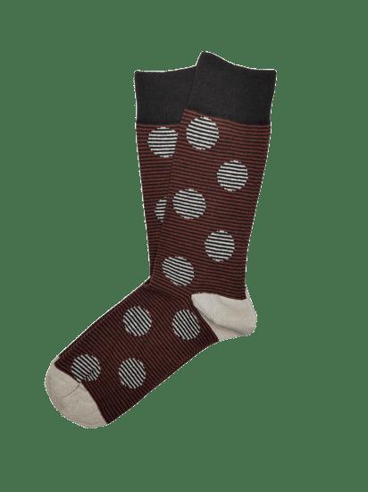 Veselé pánské ponožky s šedými puntíky