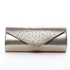 Michelle Moon Krásna dámska listová kabelka zdobená kamienkami Elisee, zlatá