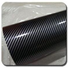 CWFoo 2D Karbonová stříbrnočerná wrap auto fólie na karoserii