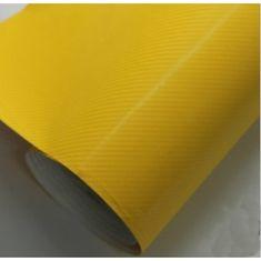 CWFoo 4D Karbonová žlutá wrap auto fólie na karoserii 152x50cm