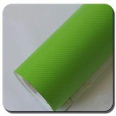 CWFoo 4D Karbonová zelená wrap auto fólie na karoserii