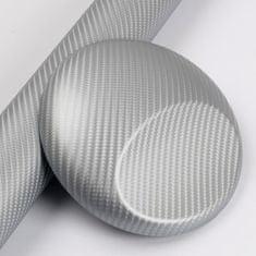 CWFoo 4D Karbonová stříbrná wrap auto fólie na karoserii